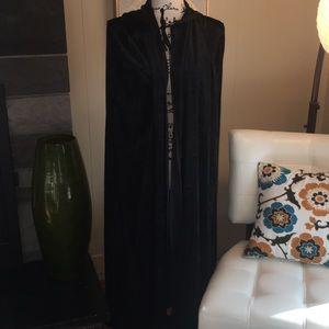 Black velveteen cape